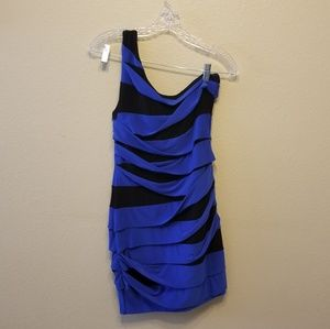 Ruby Rox one shoulder elastic dress